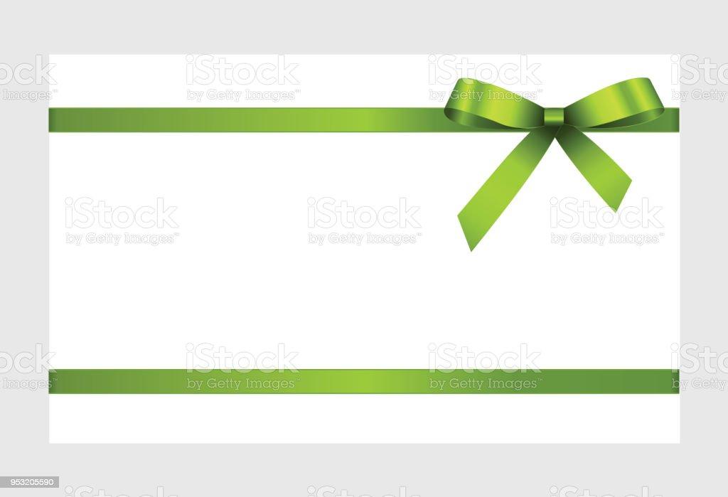Ilustración de Arco Verde Decorativo Con Cintas Horizontales Aislado ...