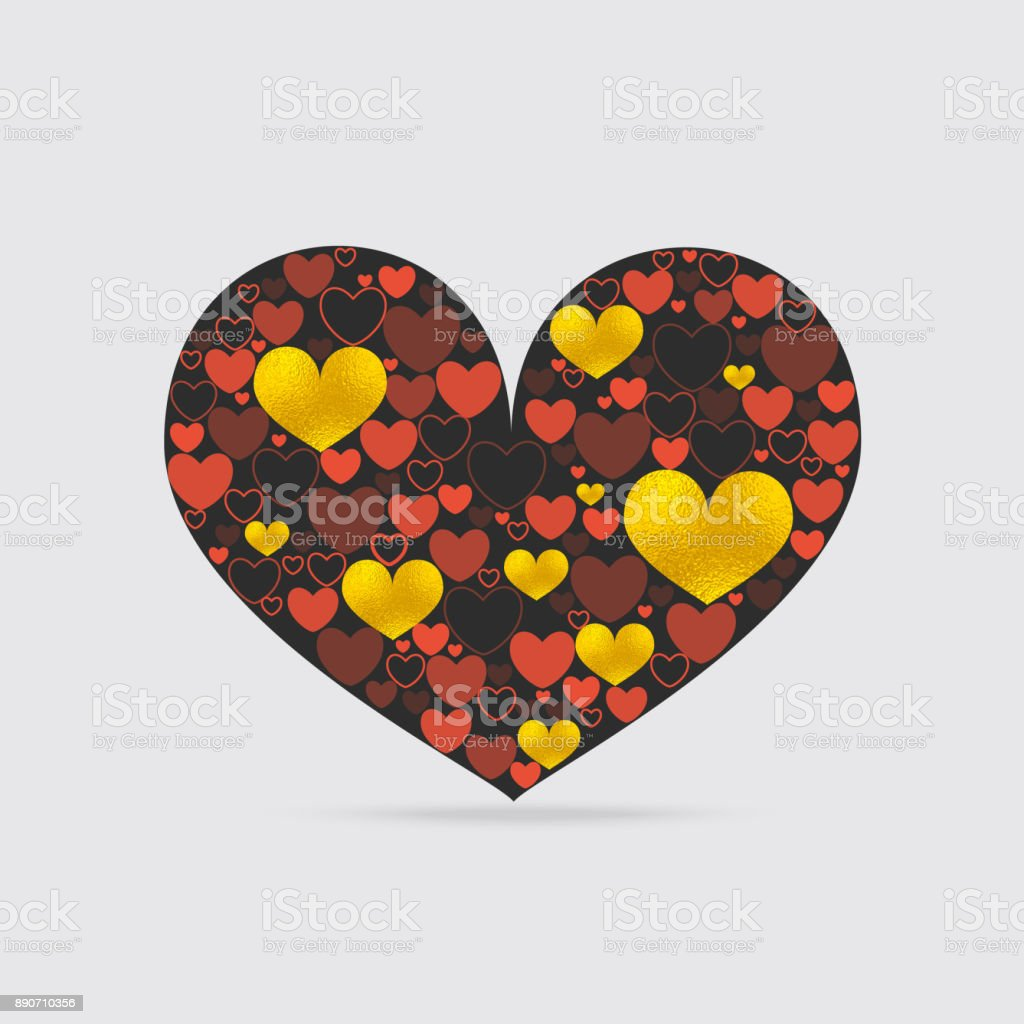 Decorative Heart Shape vector art illustration