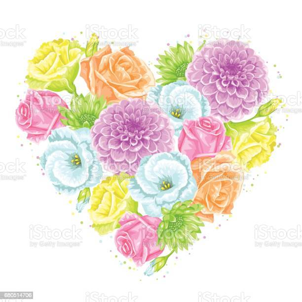 Decorative heart with delicate flowers object for decoration wedding vector id680514706?b=1&k=6&m=680514706&s=612x612&h=fzbbxhgy2373arzw0p7laqfp93ket1i09zzgsxrrrps=