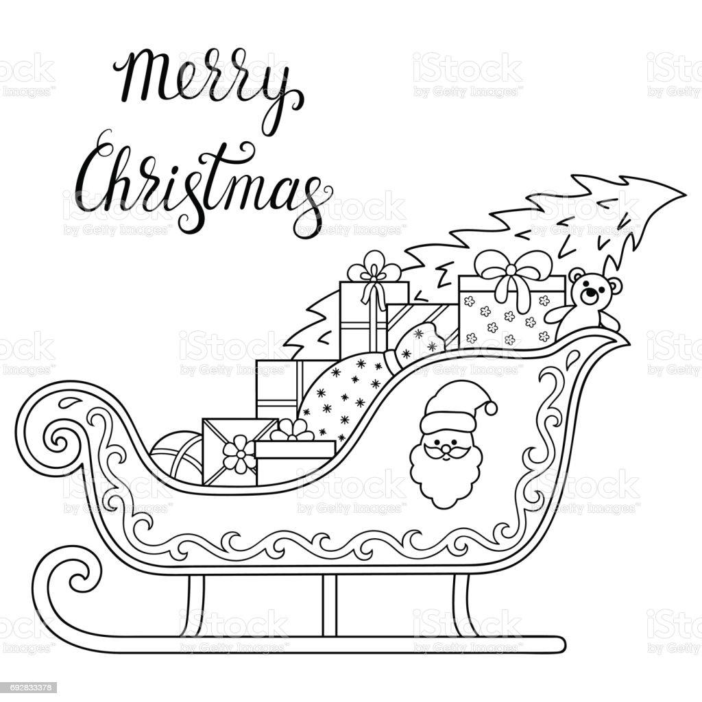 Kleurplaten Nieuwjaar En Kerstmis.Decoratieve Vakantie Element Voor Decoratie Voor Nieuwjaar
