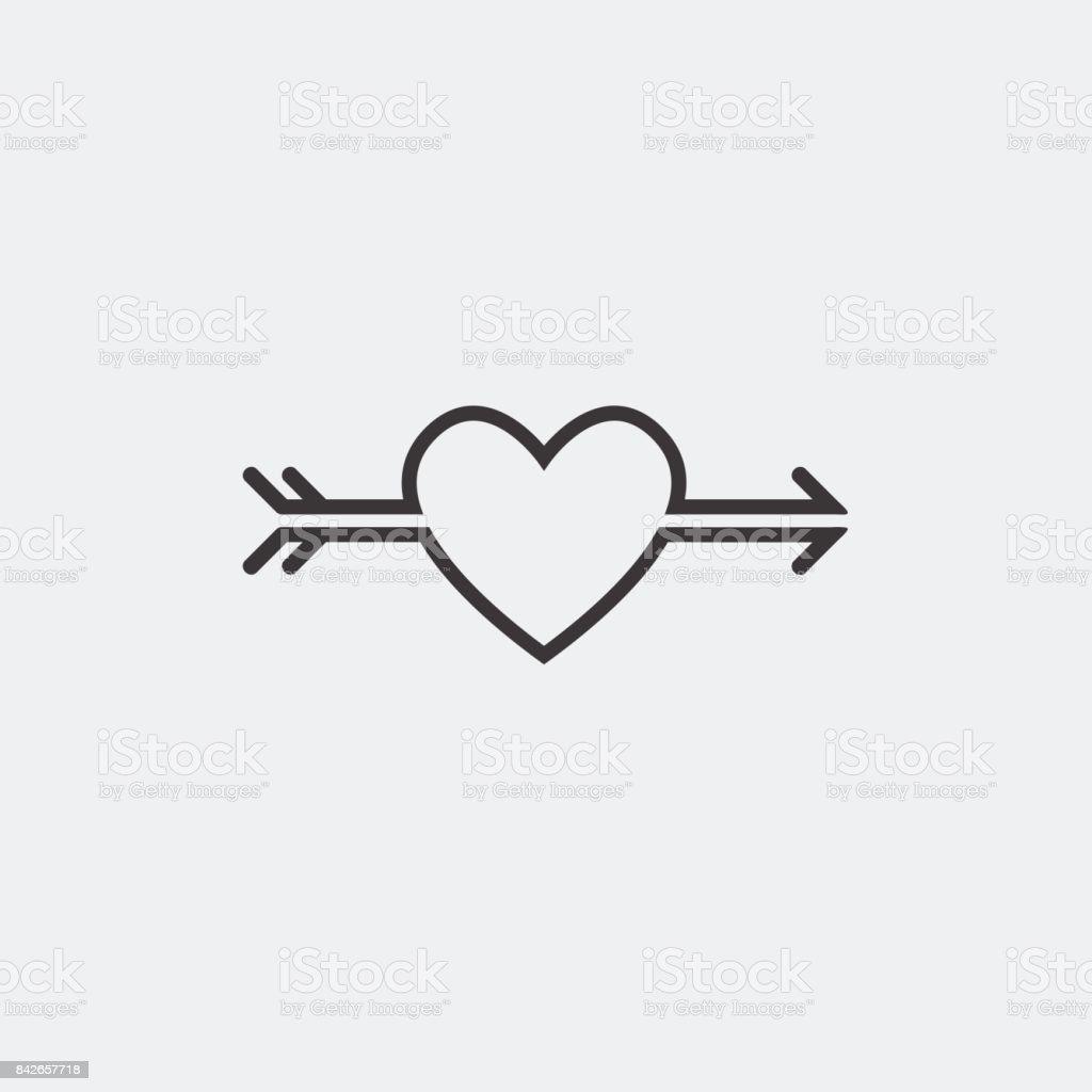 Decorative Icon For Valentines Day Graphic Romantic Element Heart