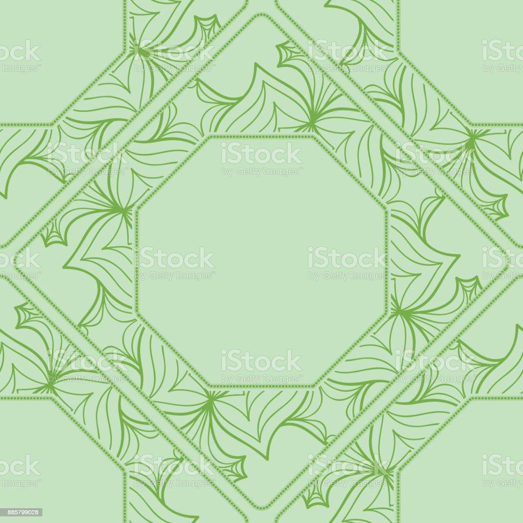 decorative lace frame. seamless pattern. vector illustration vector art illustration