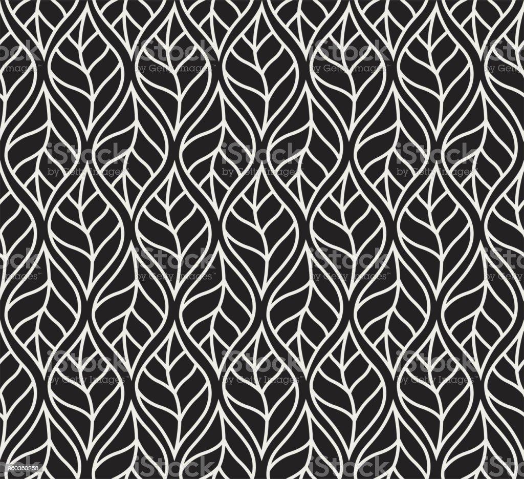 装飾的な葉のシームレスなパターン。連続的な葉の背景。花のテクスチャです。 ベクターアートイラスト