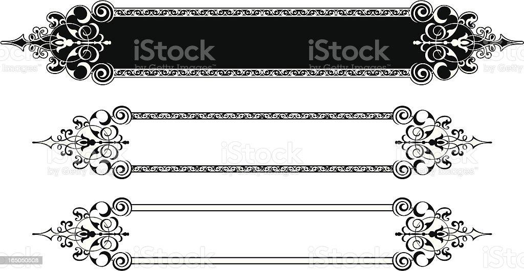 Decorative Lettering Panel Deign royalty-free stock vector art
