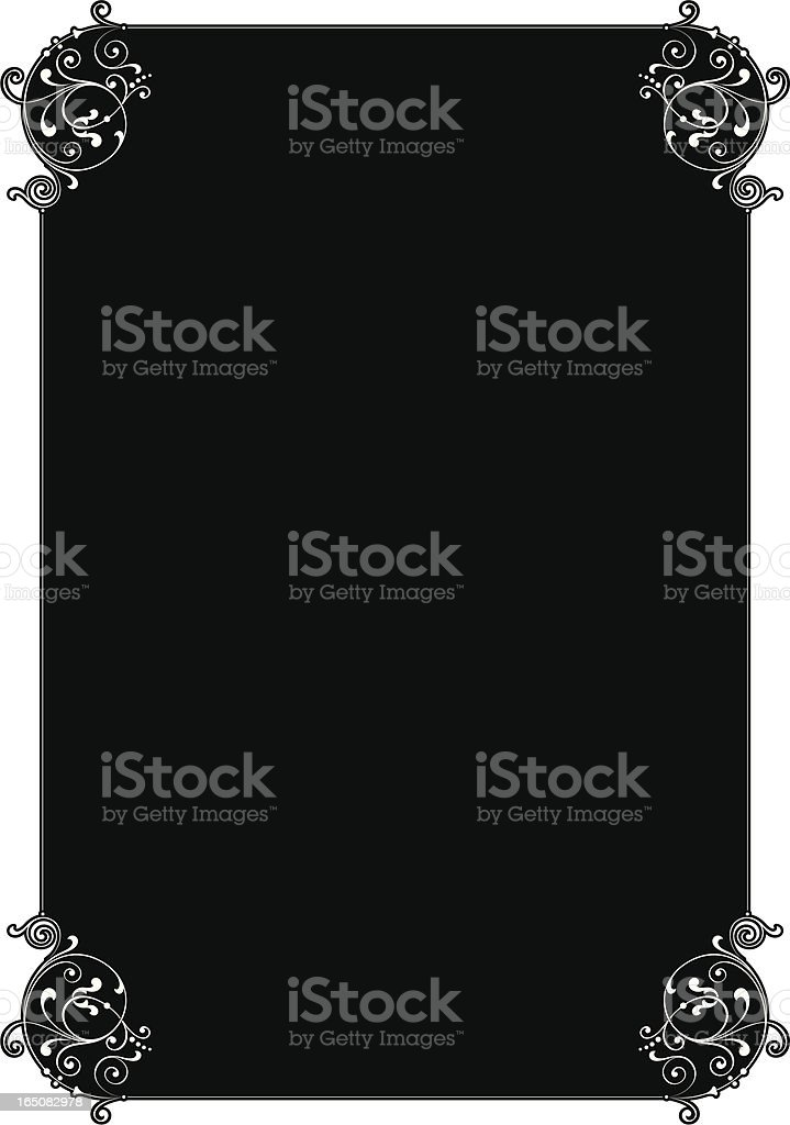 Decorative Lettering Panel royalty-free stock vector art