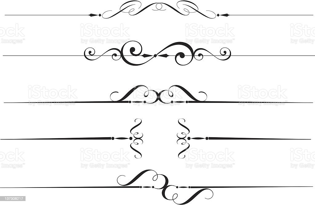 Decorative line royalty-free stock vector art
