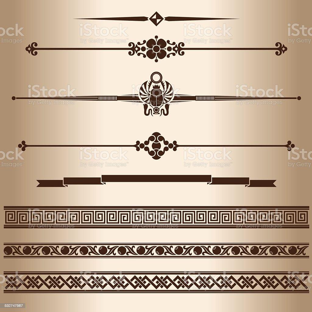 Decorative lines. vector art illustration