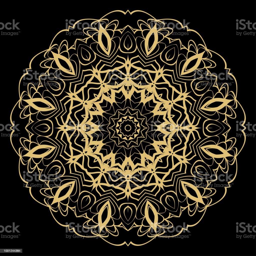 Dekoratif Mandala Cicek Susleme Desen Vektor Kabile Etnik Arapca