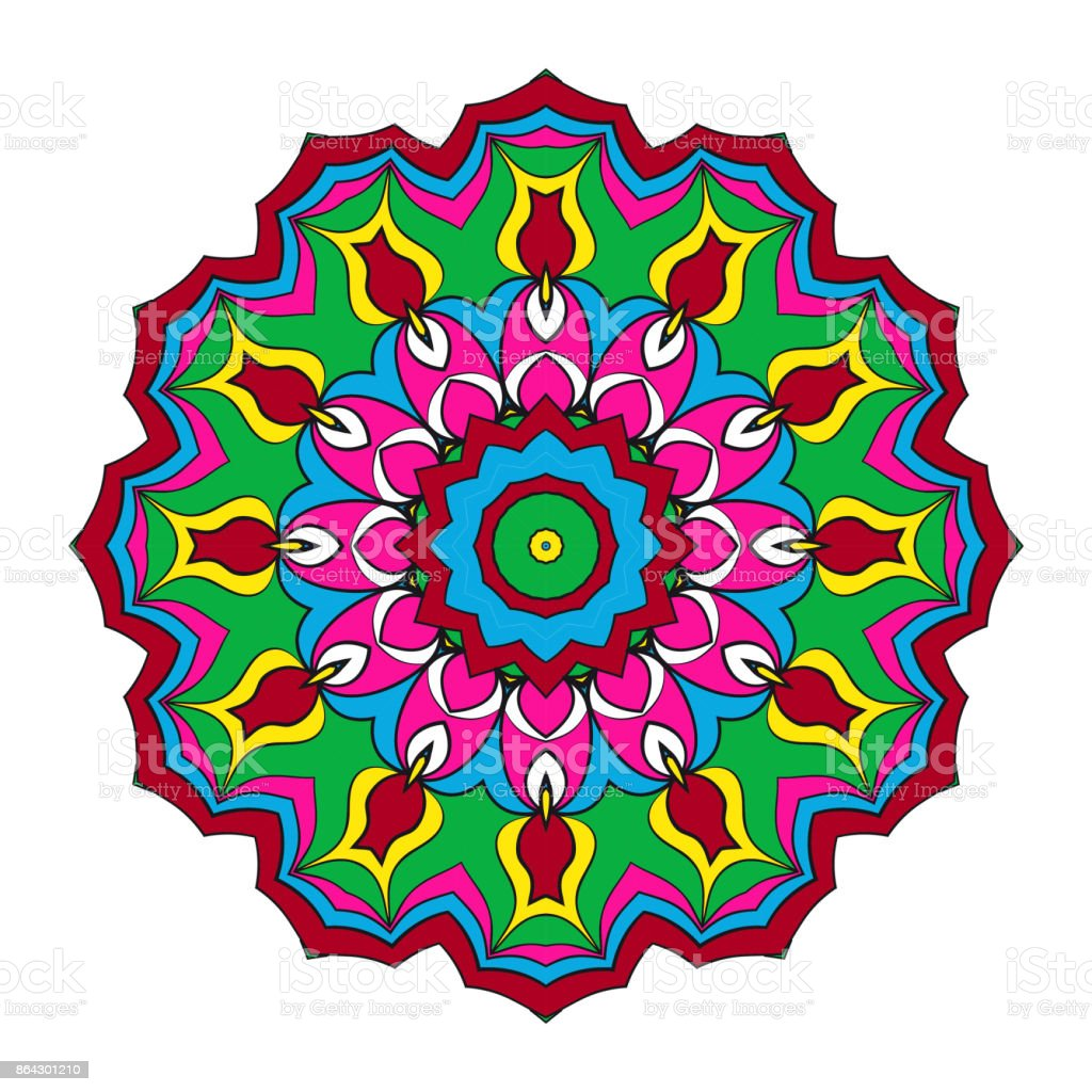 Decorative Mandala. Vector illustration. For print, sticker, icon royalty-free decorative mandala vector illustration for print sticker icon stock vector art & more images of animal