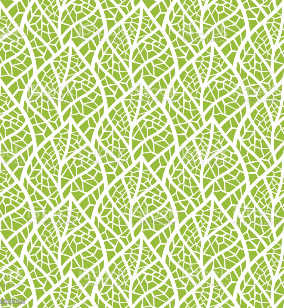 Decorative Mosaic Leaves Seamless Pattern Continuous Leaf Background ...
