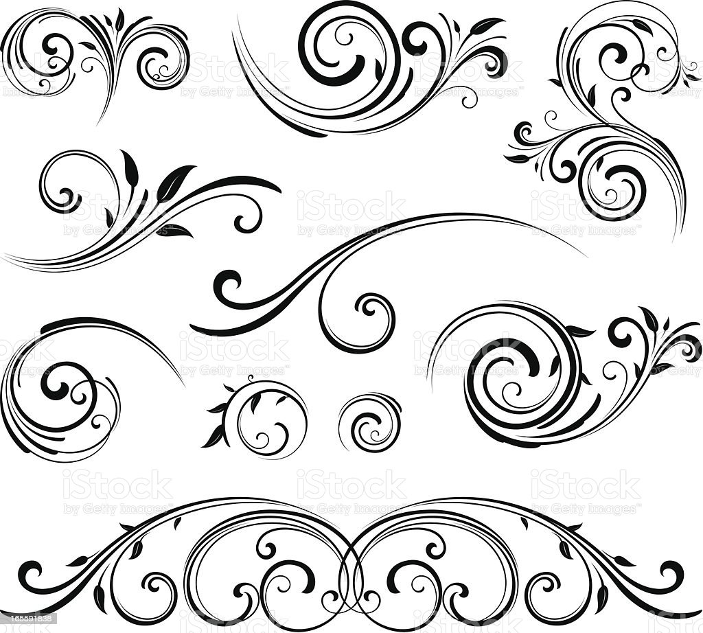 Decorative motifs royalty-free stock vector art