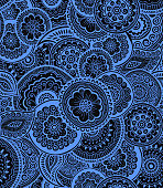 Decorative nature ornamental seamless pattern