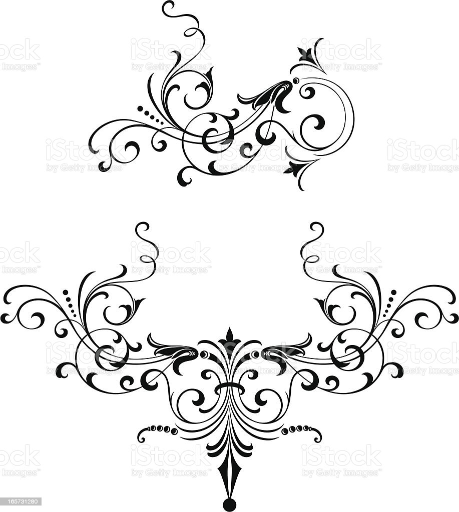 Decorative old fashioned scroll design stock vector art for Decorative scrollwork