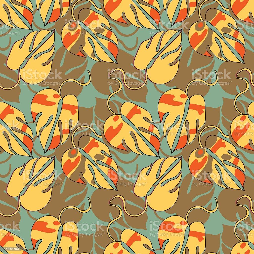 decorative orange pattern royalty-free stock vector art