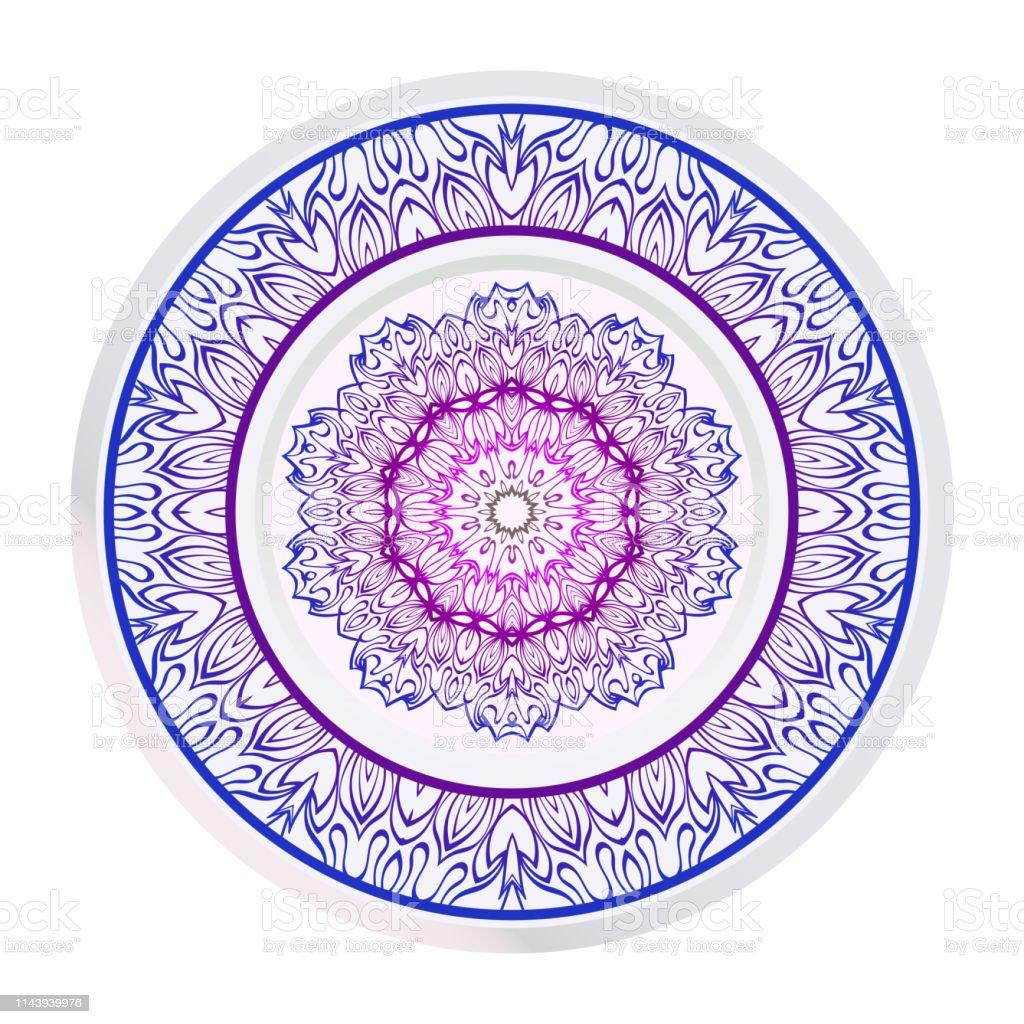 Mandala Ile Dekoratif Susleme Ev Dekorasyonu Arka Plan Vektor
