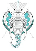 decorative ornamental elephant head