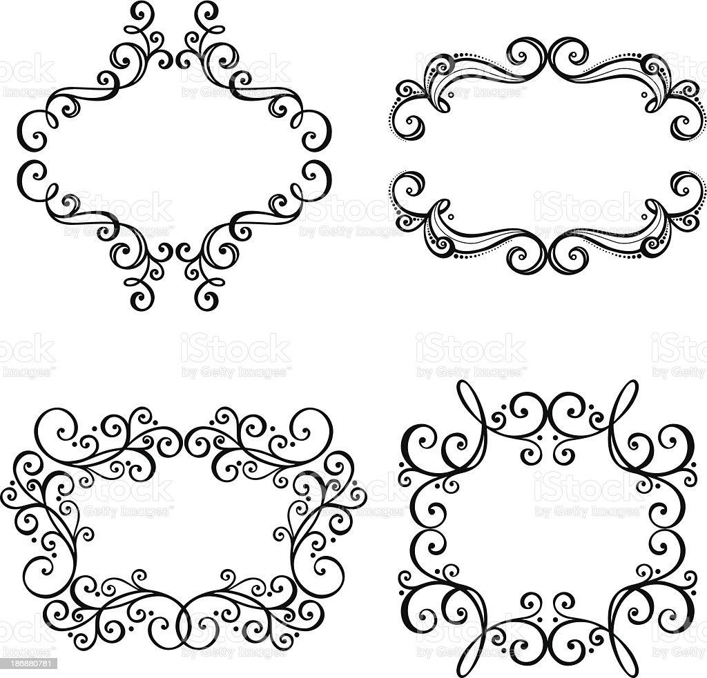 Dekorative Verzierten Rahmen Für Text Stock Vektor Art und mehr ...