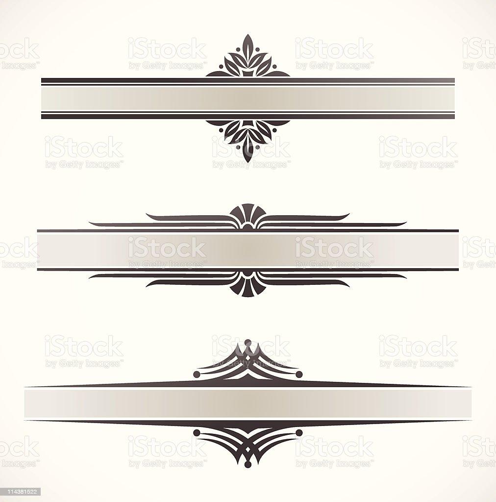 Decorative ornamental frames royalty-free stock vector art