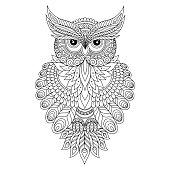 Decorative ornamental Owl.