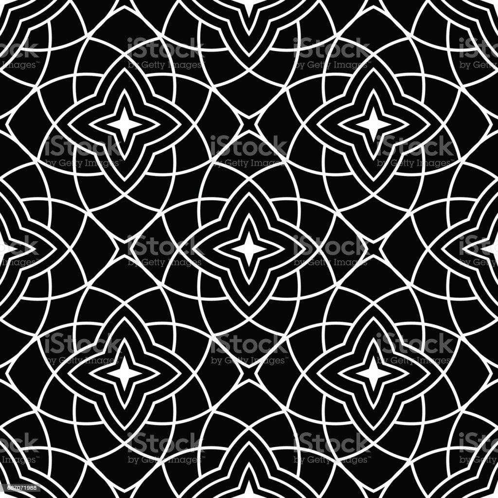 Nahtlose Muster Dekorative Ornamente Schwarz Und Weiß Wallpaper