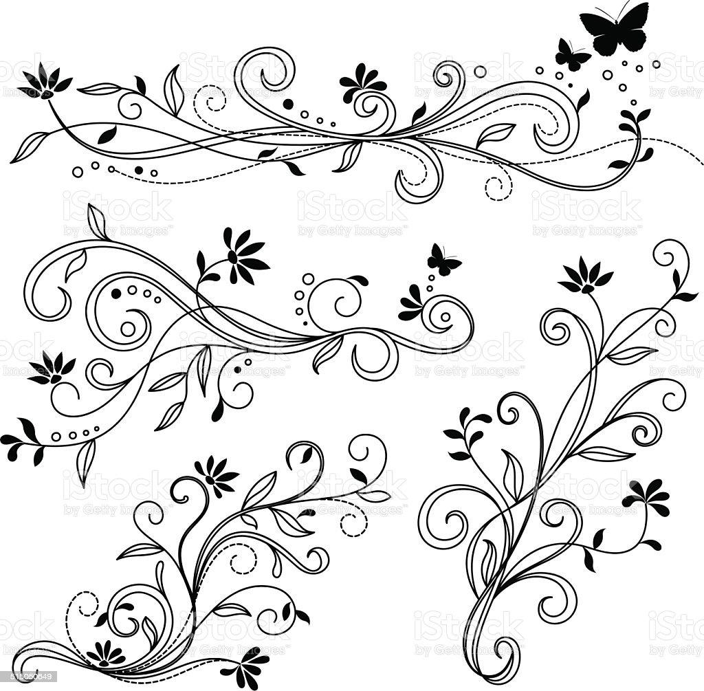 Dekorative Ornamenten – Vektorgrafik