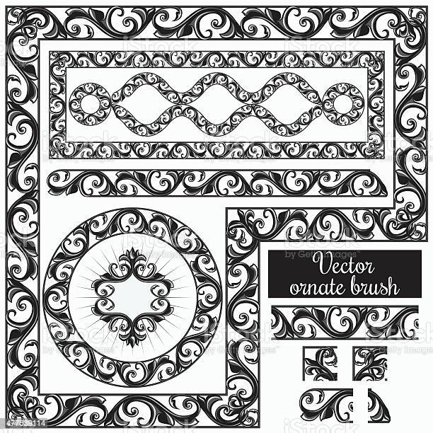Decorative Ornate Design Elements And Brush For Illustrator Stock Illustration Download Image Now Istock