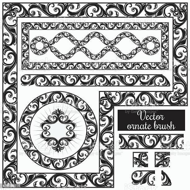 Decorative Ornate Design Elements And Brush For Illustrator Stock Illustration Download Image Now Istock