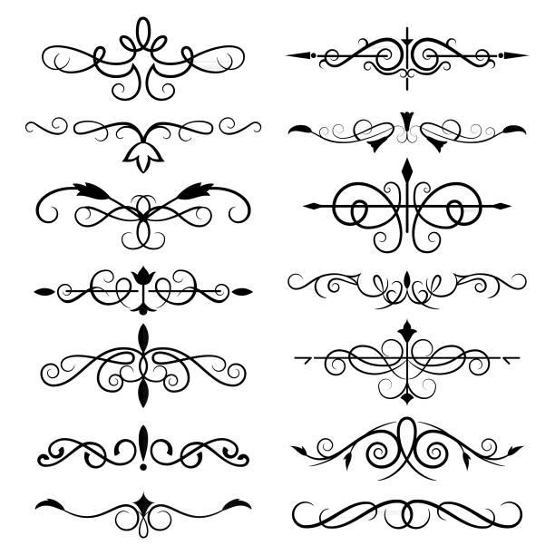 Decorative Ornate Elements vector art illustration