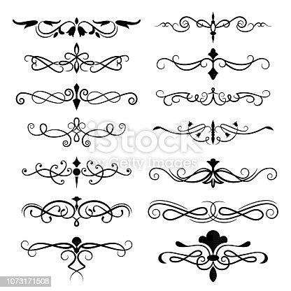 Vector illustration of the decorative ornate elements