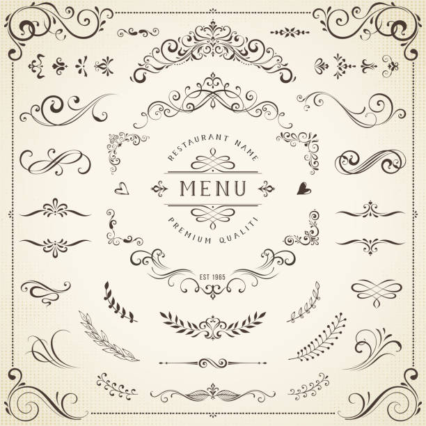 Decorative Ornate Elements vector art illustration