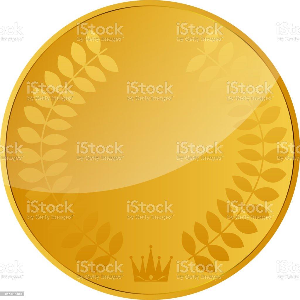 Decorative ornate golden vector frames on dark background royalty-free stock vector art
