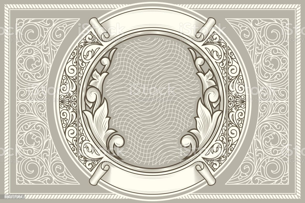 Decorative ornate retro design vector art illustration