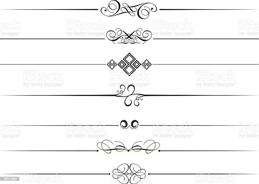 Decorative page breaks royalty-free stock vector art