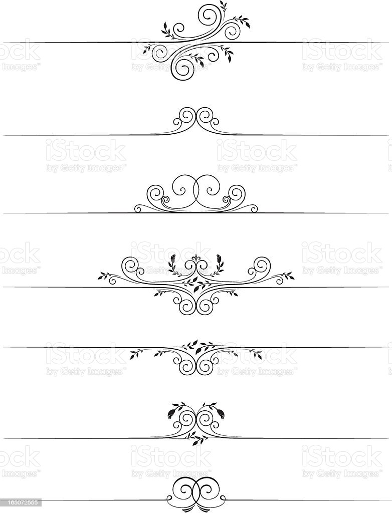 Decorative page rules 3 royalty-free stock vector art