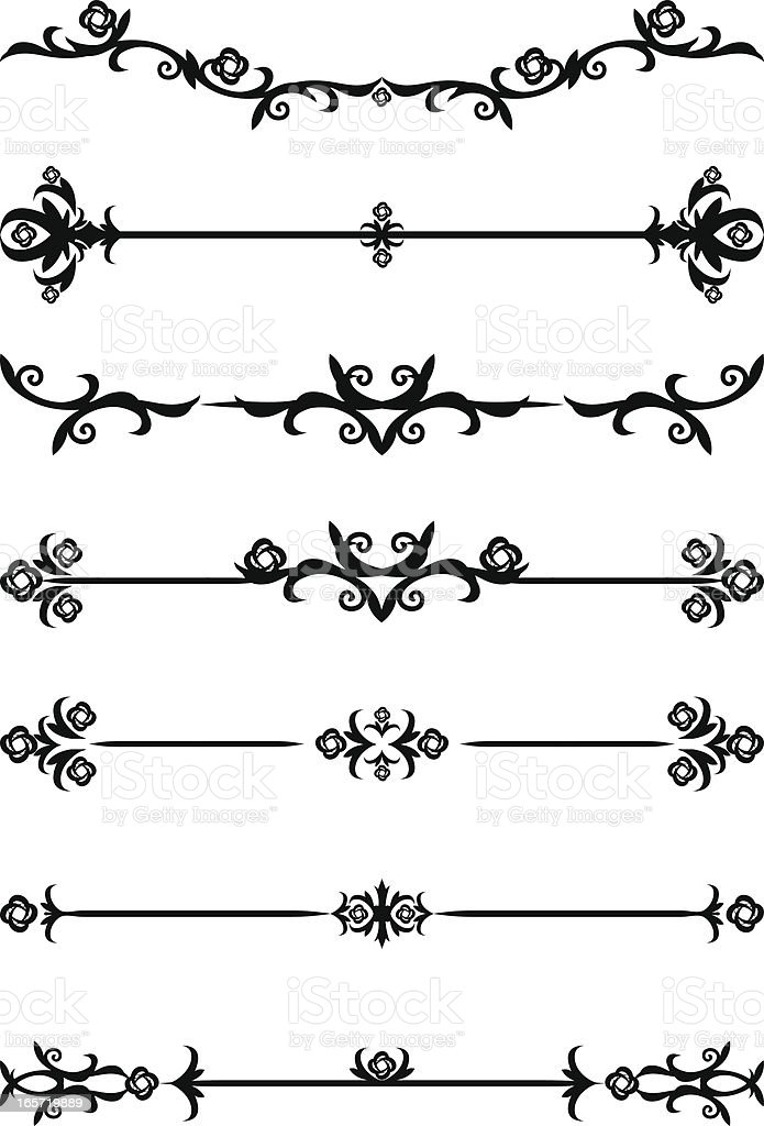 Decorative page rules royalty-free stock vector art