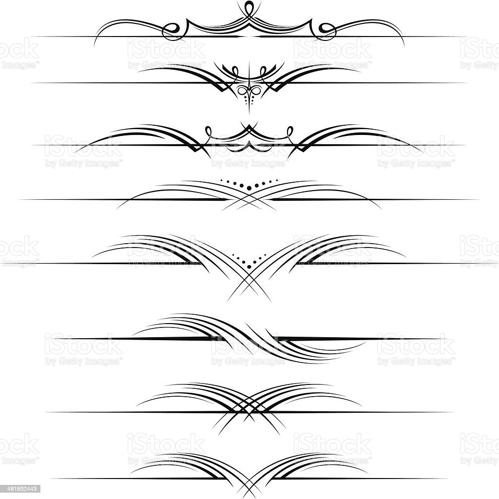 Decorative page rules vector art illustration