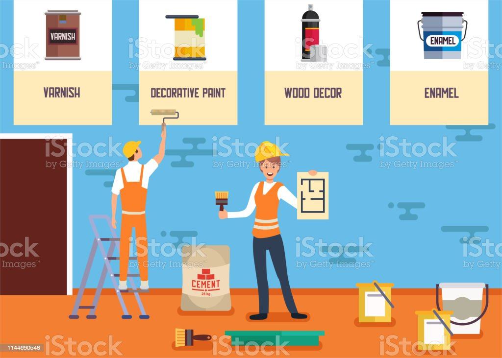 Decorative Painting Service Online Shop Banner Stock Illustration Download Image Now Istock