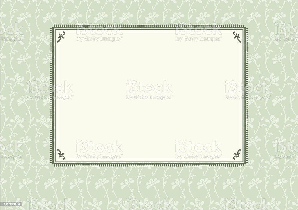 Decorative pattern invitation template royalty-free stock vector art