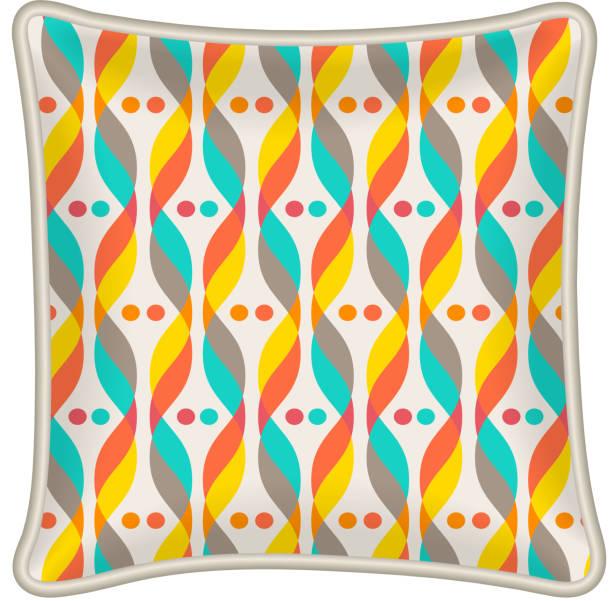 dekorative kissen - leinensofa stock-grafiken, -clipart, -cartoons und -symbole