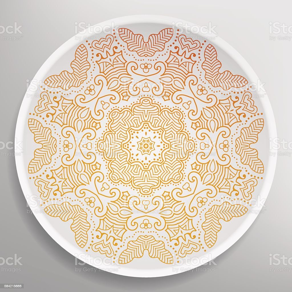 Decorative plate with Mandala round ornament tribal ethnic style vector art illustration  sc 1 st  iStock & Royalty Free Moroccan Plates Clip Art Vector Images u0026 Illustrations ...