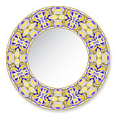 Decorative plate with ornament