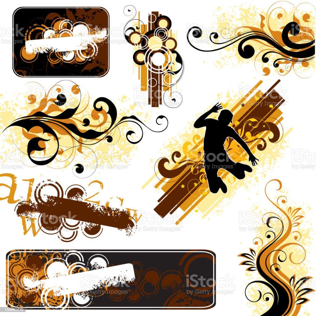 Decorative projects royalty-free stock vector art