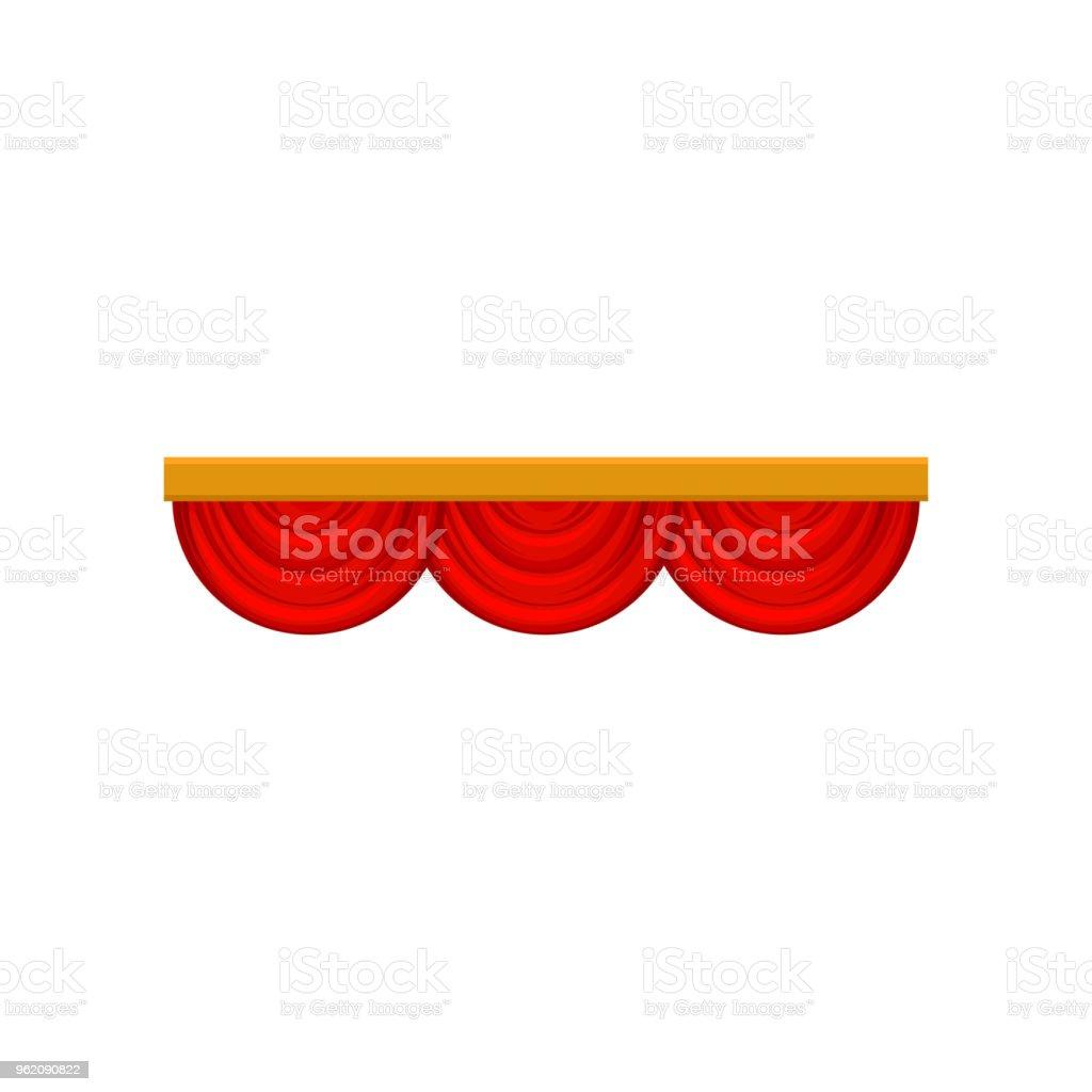 Ilustración de Cortina Decorativa Cenefa Roja Para La Etapa De ...
