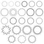 Set of 23 cute vector wreaths