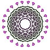 Decorative round lace ornate mandala. Vintage vector pattern for print.