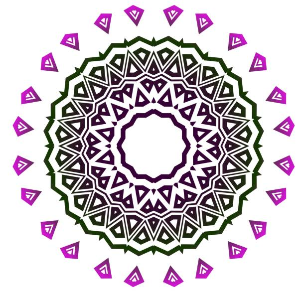 Dekorative Runde Spitze verzierte Mandala. Vintage Vektormuster für den Druck. – Vektorgrafik