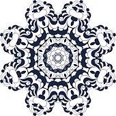 Decorative round ornate mandala for print or web design