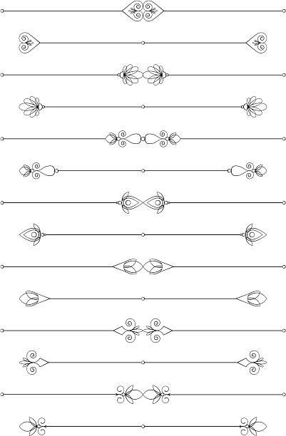 Decorative Rules vector art illustration