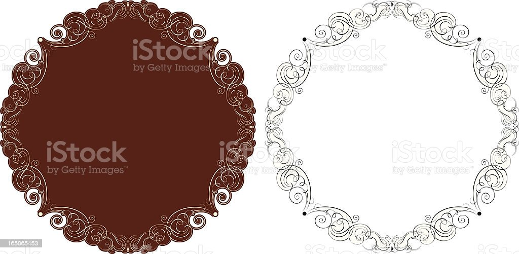 Decorative Scroll Panel royalty-free stock vector art