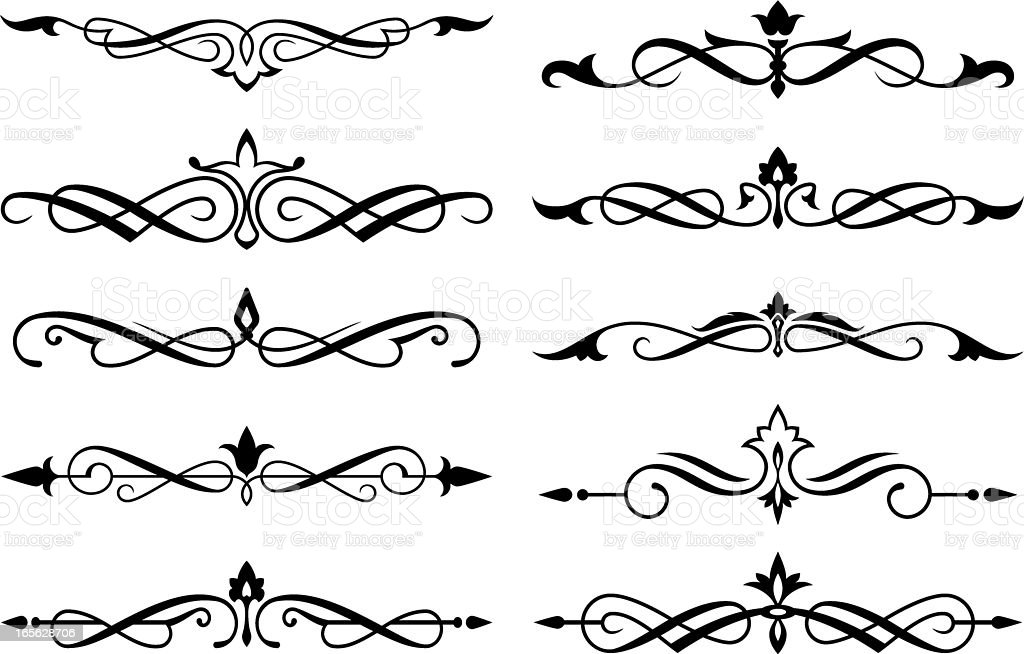 Decorative scroll set royalty-free stock vector art